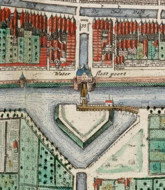Waterslootse Poort Lens on Leeuwenhoek